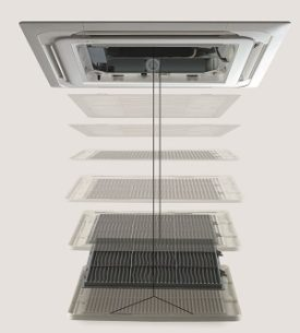 Elevation grille voor plafond cassette units