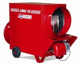 Oliegestookte luchtverhitter met schoorsteen en thermostaat KS 200T/C